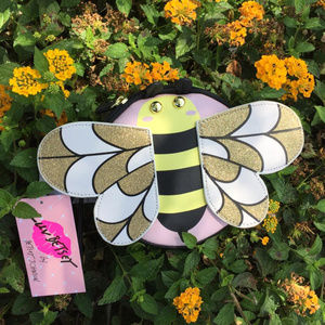 Betsey Johnson Bags - Bumble Bee Luv Betsey Johnson Wristlet Coin Purse